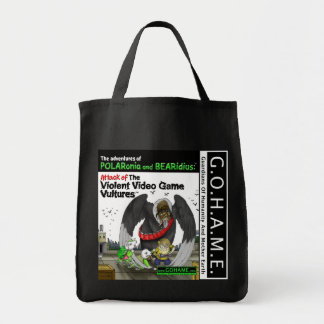 激しいビデオゲームのハゲタカの攻撃 トートバッグ