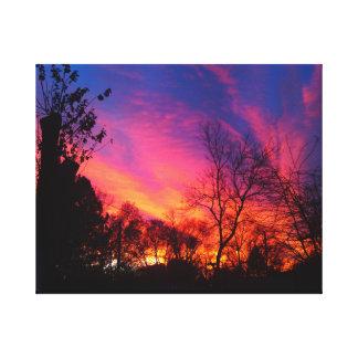 激しい夜空のキャンバス キャンバスプリント