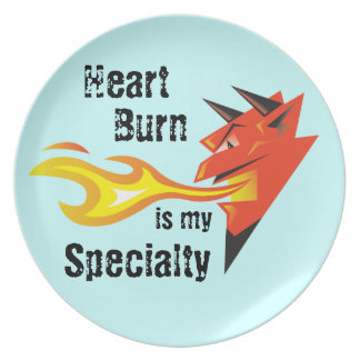 激しい悪魔のHead_Heartの焼跡は私の専門です プレート