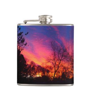 激しい日没のフラスコ フラスク