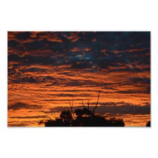 激しい日没の写真 フォトプリント