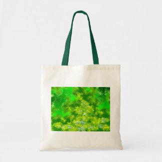 激しい緑の抽象芸術 トートバッグ