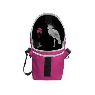 激しい髪の鳥の小型メッセンジャーバッグの内部のプリント クーリエバッグ