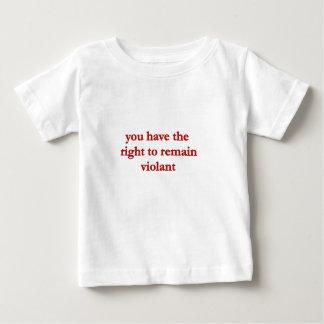 激しく残る権利を有します ベビーTシャツ