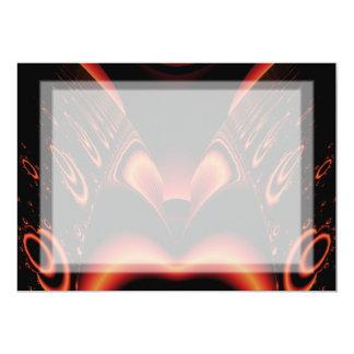 激しく赤くおよび黒いフラクタル カード