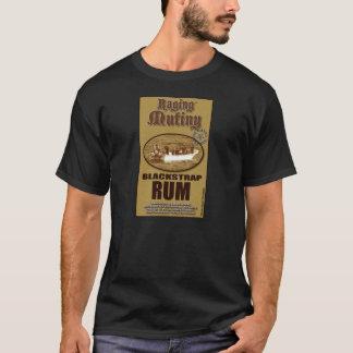 激怒する暴動の黒い革紐のラム酒のティー Tシャツ
