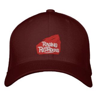 激怒する赤い石によって刺繍される帽子 刺繍入りキャップ