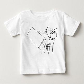 激怒の顔のミームを弾くテーブルフリップ ベビーTシャツ