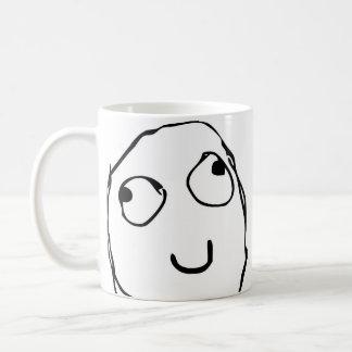 激怒の顔の喜劇的なおもしろいなコーヒー・マグ コーヒーマグカップ