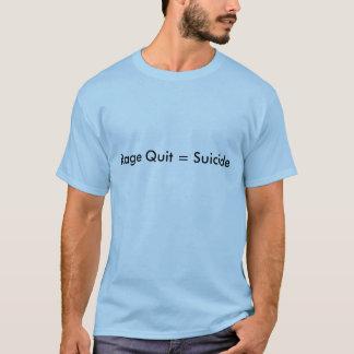 激怒は=自殺やめます Tシャツ