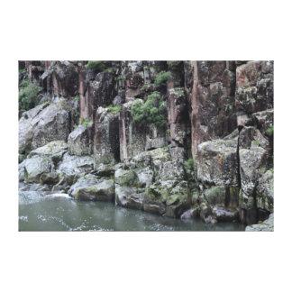 激流の峡谷LAUNCESTONタスマニアオーストラリア キャンバスプリント
