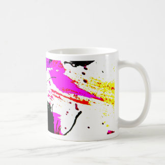 激賞のネオンパーティーの抽象芸術 コーヒーマグカップ
