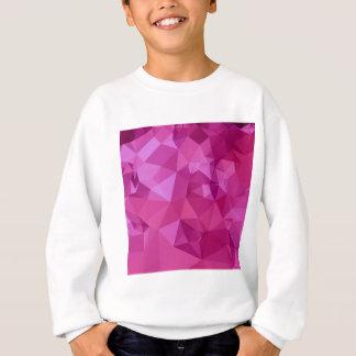 濃いピンクの抽象的で低い多角形の背景 スウェットシャツ