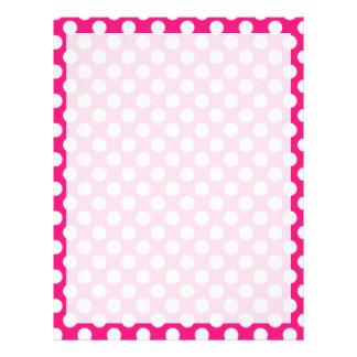 濃いピンクの水玉模様 レターヘッド