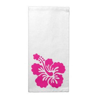 濃いピンクの熱帯ハイビスカスの花 ナプキンクロス