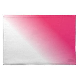 濃いピンクの白いグラデーション ランチョンマット