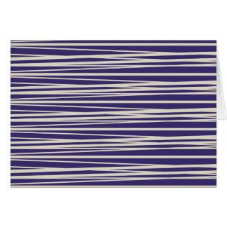 濃紫色および白のストライプパターンギフト ノートカード