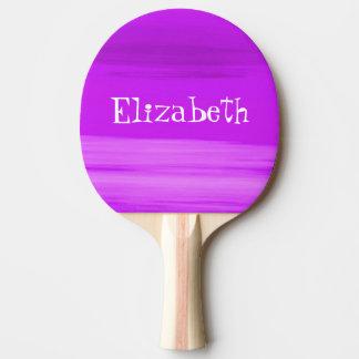 濃紫色の名前入りで柔らかい陰は縞で飾ります 卓球ラケット