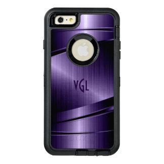 濃紫色の幾何学的でモダンな金属質 オッターボックスディフェンダーiPhoneケース