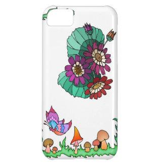 濃紫色の春および花 iPhone5Cケース