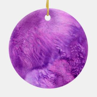 濃紫色の水彩画の色彩の鮮やかなワインのプラム セラミックオーナメント