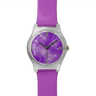 濃紫色の氷晶のスターバスト- 腕時計