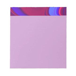 濃紫色の渦巻 ノートパッド