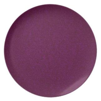 濃紫色の石粗かったプレート プレート