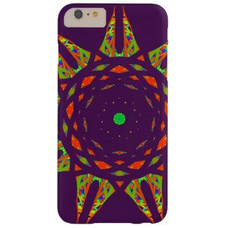 濃紫色の背景の万華鏡のように千変万化するパターンパターン BARELY THERE iPhone 6 PLUS ケース
