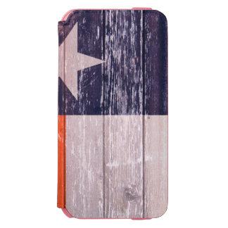 濃紺およびオレンジのテキサス州の旗の色彩の鮮やかで古い木 INCIPIO WATSON™ iPhone 5 財布型ケース