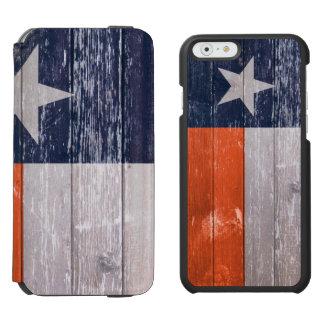 濃紺およびオレンジのテキサス州の旗の色彩の鮮やかで古い木 INCIPIO WATSON™ iPhone 6 ウォレットケース