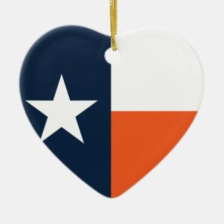 濃紺およびオレンジのテキサス州の旗 セラミックオーナメント