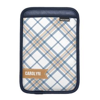 濃紺およびカラメルの格子縞のiPad Miniスリーブ iPad Miniスリーブ