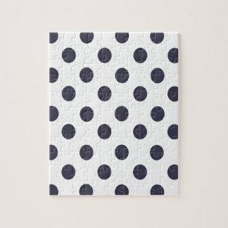 濃紺および白い水玉模様 ジグソーパズル
