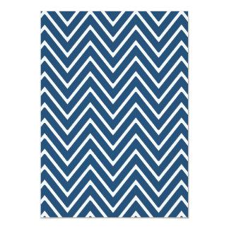 濃紺および白のシェブロンパターン2 カード
