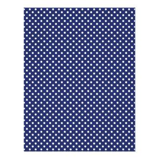 濃紺および白の水玉模様パターン レターヘッド
