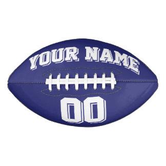 濃紺および白の習慣のフットボール アメリカンフットボール