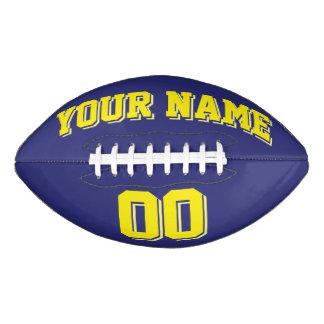 濃紺および黄色の習慣のフットボール アメリカンフットボール