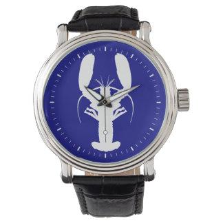 濃紺そして白い沿岸ロブスター 腕時計