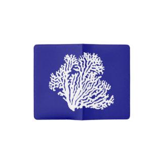 濃紺そして白い沿岸珊瑚 ポケットMoleskineノートブック