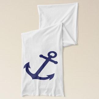濃紺のいかり スカーフ