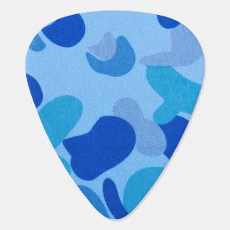 濃紺のカムフラージュパターン ギターピック