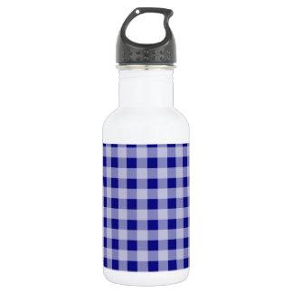 濃紺のギンガム ウォーターボトル