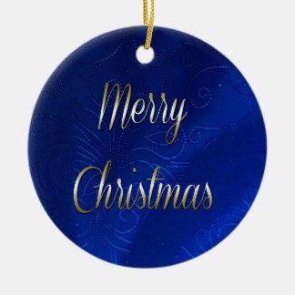 濃紺のクリスマス セラミックオーナメント