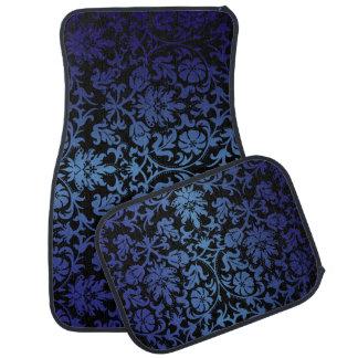 濃紺のサファイアのスタイリッシュなダマスク織のプリント カーマット