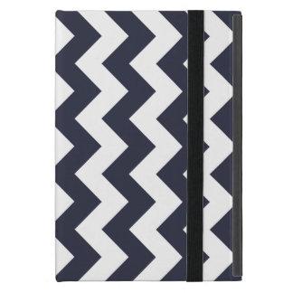 濃紺のシェブロンのジグザグ形 iPad MINI ケース