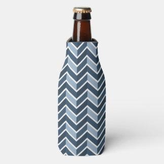 濃紺のシェブロンパターン ボトルクーラー