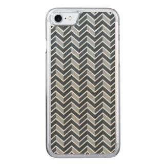 濃紺のシェブロンパターン CARVED iPhone 8/7 ケース