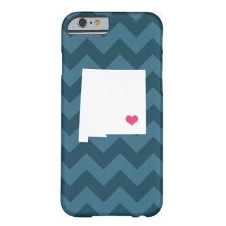 濃紺のシェブロン名前入りなニューメキシコのハート BARELY THERE iPhone 6 ケース