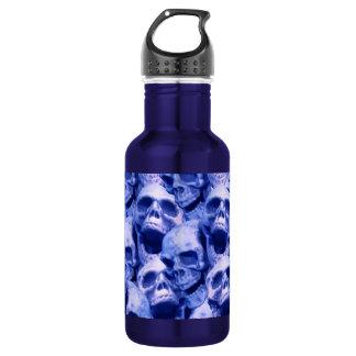 濃紺のスカル ウォーターボトル